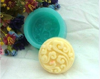 Soap Mold Mould Silicone Mold Flexible Mold Cake Mold Round Flower