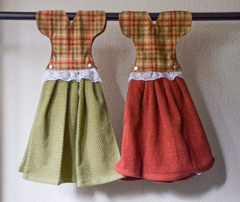 Dress Hanging Hand Towels Christmas Kitchen Decor Set Of