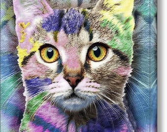Pop Cat on Stretched Canvas