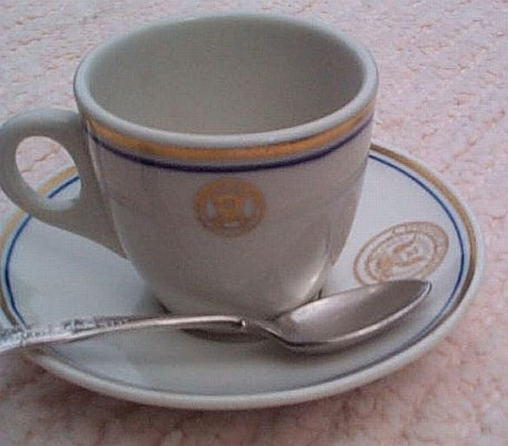 Us Navy Demitasse Or Expresso Coffee Cup Saucer By