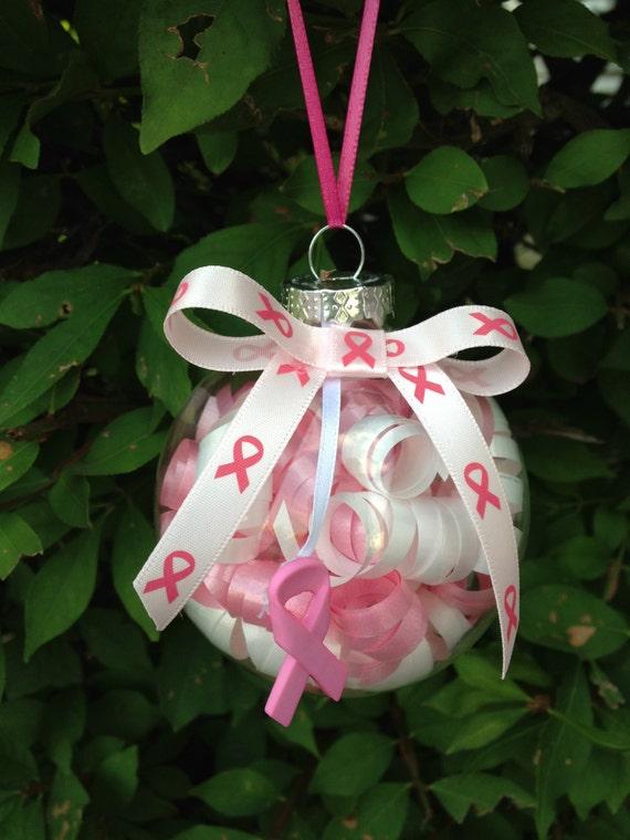 Handmade Breast Cancer Awareness Christmas Ornament