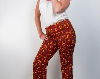 SALE: Ankara Iyanu Pants, Flared Pants, Ankara Pants