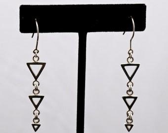 Geo7 - Earrings - Sterling Silver