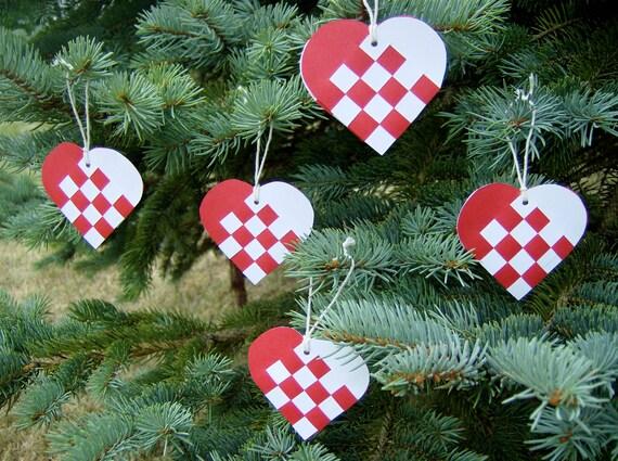 Items Similar To Danish Mini Woven Heart Christmas