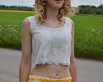 Ivory Lace Crop Top by ROSAvelt