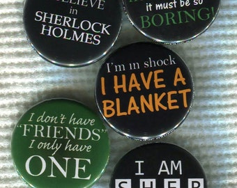 "1.25"" BBC Sherlock quote Pinback Button"