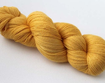 Wildflower, Hand dyed Lace yarn 70/30 baby alpaca/mulberry silk