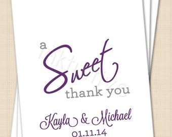 Thank You Sayings For Wedding Gift Bags : Wedding Candy Bar Thank You Sayings Wedding favor candy bags