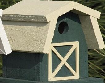 Amish Made Small Farm Barn Birdhouse