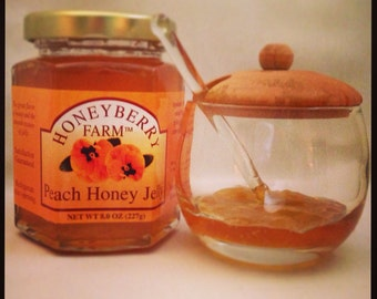 8oz Peach Honey Jelly