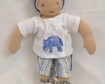 "Waldorf baby boy doll 30 cm/12"" - all natural materials"