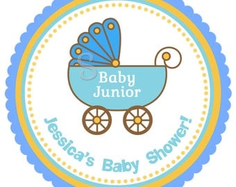 It's a Boy Personalized Sticker, Baby Shower Label Party Favor Stroller Labels