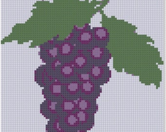 Grapes Cross Stitch Pattern