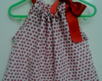 Red flower print  Pillowcase dress