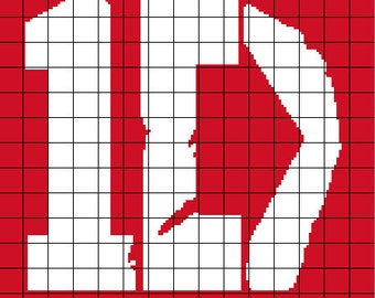 1 Direction Logo Crochet Graph / Chart 184 x 150