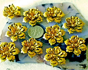 26mm Brass Flowers Vintaged Style Stamping Filigree Floral rbf33(8pcs)