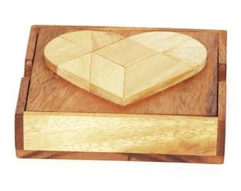 Heart Wooden Tangram
