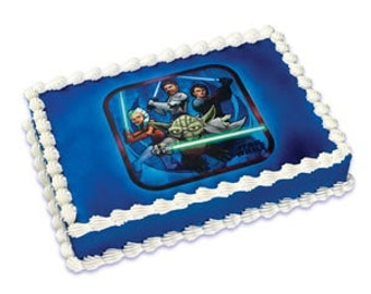 Star Wars Clone Wars Edible Image Cake Topper Birthday Party Supplies