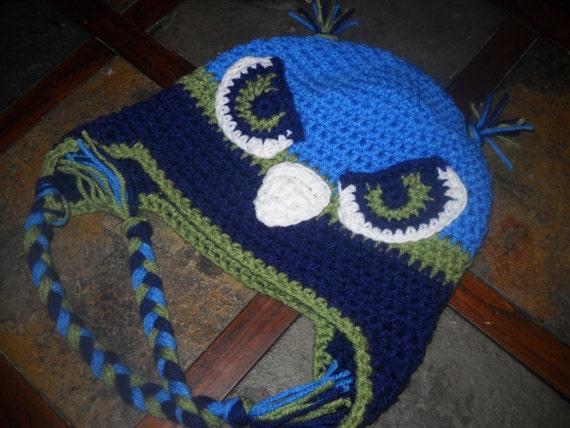 Seattle Seahawks Crochet Hat Newborn to by KendalsCreationsSt