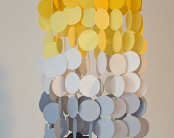 Yellow and Gray Ombre Crib Mobile,Modern circle mobile, geometric crib mobile, nursery mobile, teen room, dorm room, wedding decor