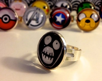 Glass Globe Ring *Mighty Boosh* *adjustable*