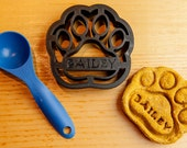 Dog Paw Cookie Cutter Custom Treat Personalized Pet Large