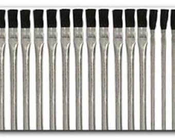 "Assorted Acid Brush 12 Pc Set 6"" Brushes Shop Cleaning Flux Paint Glue Crafts"