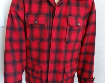 Vintage 1940's Lumberjack Jacket Made In Utah, USA By 'Baron Woolen Mills' - Authentic & Awesome!!