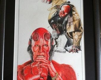 Ron Perlman as Hellboy   Size A3 Original