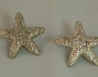 Medium Starfish Texture earrings