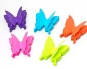100 Paper Butterflies - Your Choice of Color