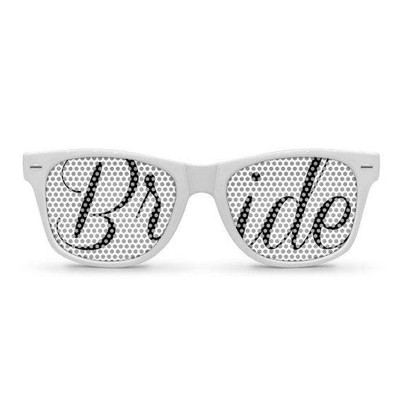 BRIDE White Retro Party Wedding Sunglasses
