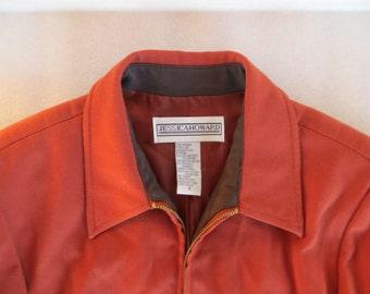 80s Jessica Howard / Jacket / coat / office / sport coat / light / zip up / Womens