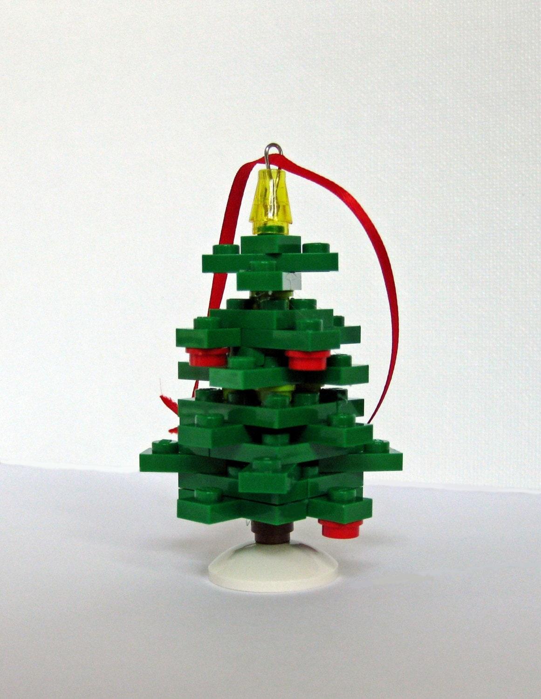 Christmas Tree Ornament Handmade Of Legor Bricks And Fully
