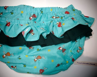 Organic baby bloomers, Baby 12-18 months , Baby Bloomers, Organic Ruffled bloomers,Diaper Covers, Nappy Pants, Retro baby clothes,