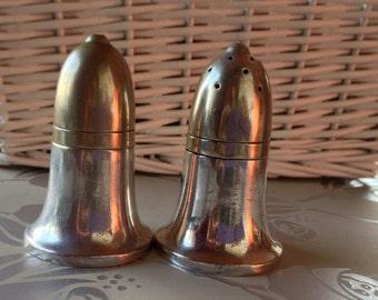 Vintage 1940s Silver Plated Salt & Pepper Shakers