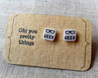 Geek earrings - Geekery - Novelty earrings - Stud earrings - Quirky earrings