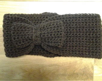 Crochet Bow Headband / Earwarmer
