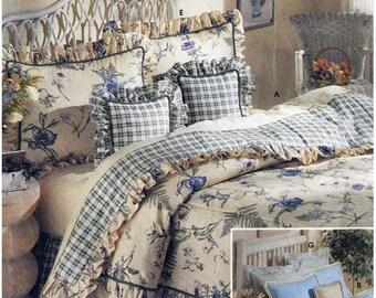 Simplicity 8898 Sewing Pattern Bedding Basics Uncut