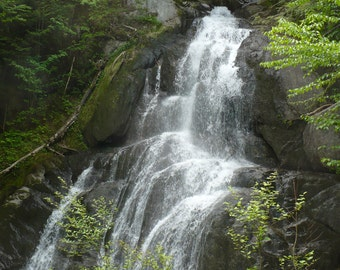 Waterfall in Vermont Canvas Picture