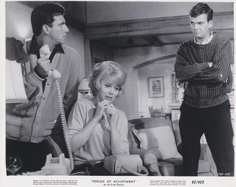 "Vintage Original photograph Anthony Franciosa, Jane Fonda, Jim Hutton  - ""Period of Adjustment "" - c.1985 - Movies"