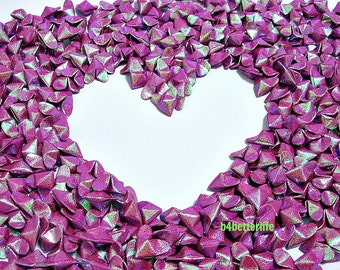 365pcs Medium Size Maroon Color 3D Origami Hearts 'LOVE'. (RS paper series). #FOH-147.