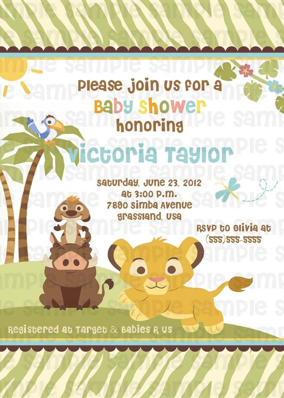 lion king baby shower invitations lion king baby shower