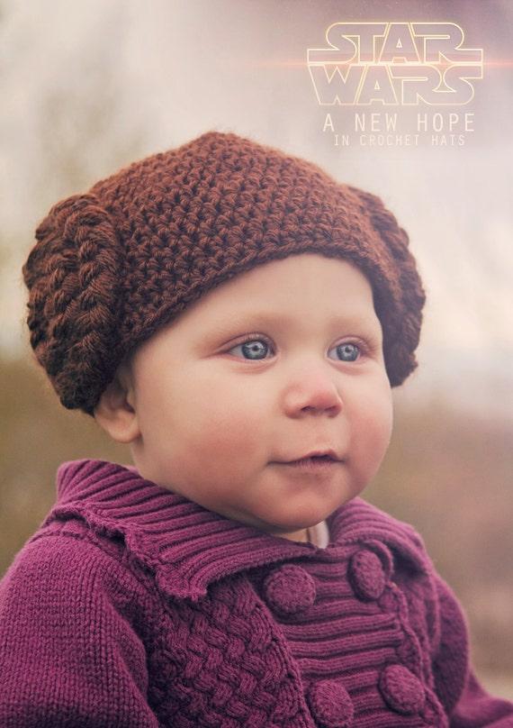 Crochet Pattern Princess Leia Hat : Princess Leia Star Wars Crochet Hat