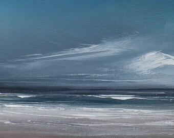blue sky, white beach