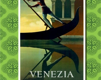 Venice Italy Travel Poster Wall Decor (7 print sizes available)