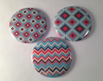 Tribal Pattern Pocket Mirrors
