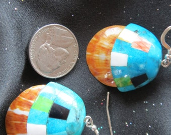 Santo Domingo Inlay Shell earrings