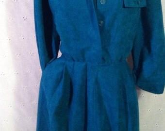 Long Sleeved Teal Dress