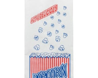 24 Retro Style Popcorn Bags, Food Bag, Party Bag